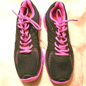 LA GEAR PINK BLACK ATHLETIC SHOES SZ 10